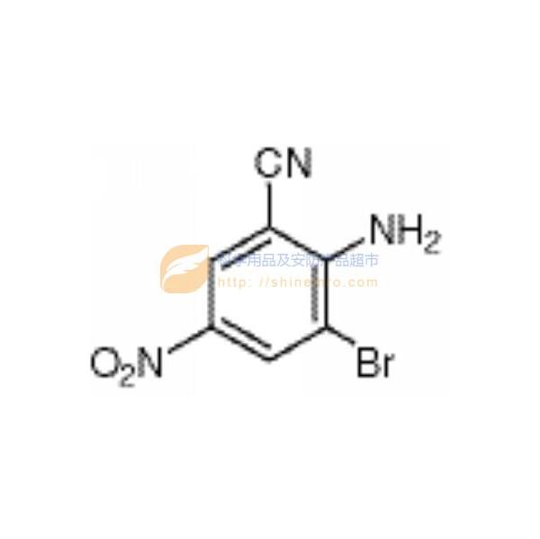 2-硝基-3-溴-5-氨基苯甲腈,2-amino-3-bromo-5-nitrobenzonitrile,>98水泵v硝图片